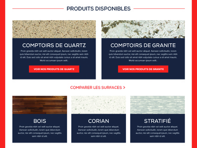 Products web design design products call to action quartz granite counter top