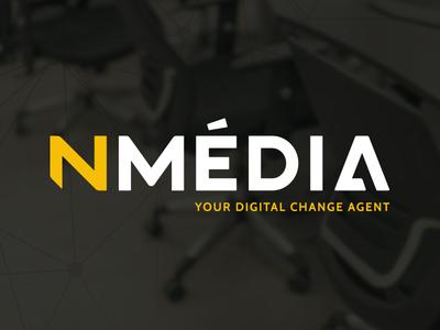 Nmedia Rebranding typography corporate brand identity yellow black branding logo
