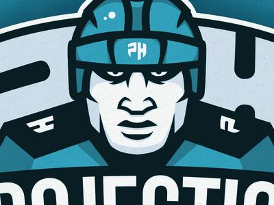 Hockey Player logo graphic design team player vector sport illustration