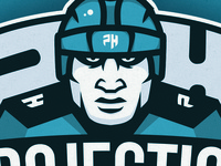 Hockey Player logo graphic design team player vector sport illustration