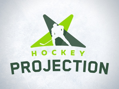Hockey Projection player symbol typogrpahy ice projection green sports hockey design branding logo