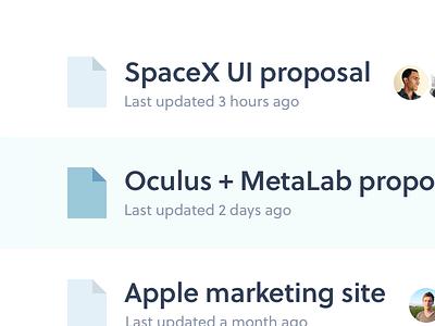 My Projects minimal clean ui users files listing app webapp