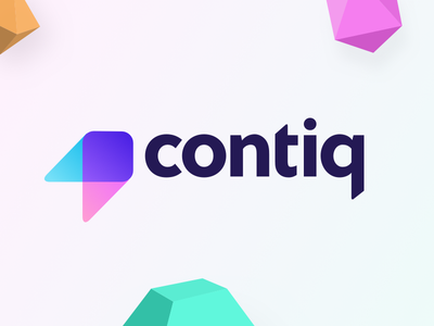 Contiq logo geo geometric bright color logo