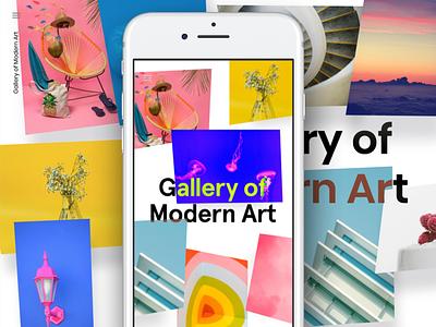 Google AMP Gallery bold responsive website 3d minimal vr art