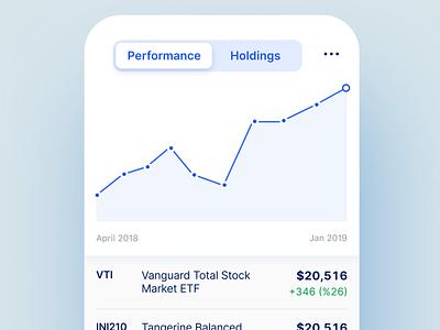 mobile stock portfolio dataviz typography clean app website ios ui minimal