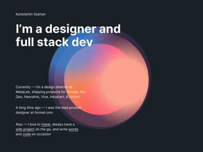 Personal site exploration colour typography clean website minimal
