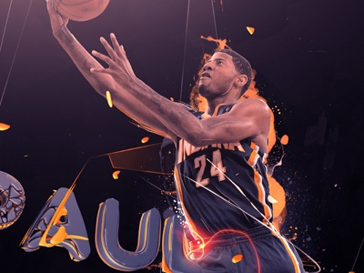 Paul Pacers Small nba playoffs finals baskett usa game players team