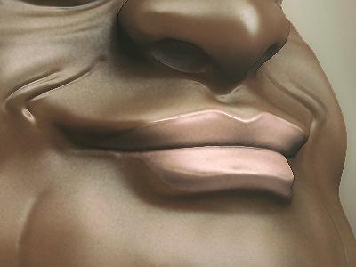 Fat Face sculpt sculpting model 3d modeling art face zbrush render photoshop