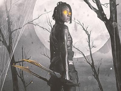 Nite Hunter graphic  design design photomanipulation image editing concept