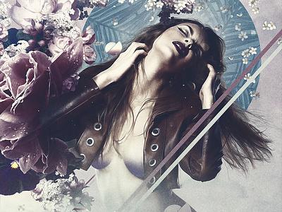 Flower Girl desiginspiration ar photomontage photomanipulation photgraphy model concept