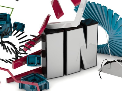 In Small render 3d typo type cinema4d typography effects