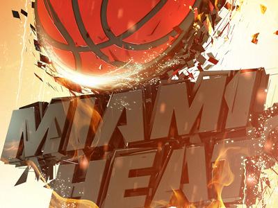 Miami Heat  render 3d typo type cinema4d typography effects
