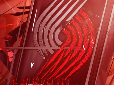 Blazers Red Small render 3d typo type cinema4d typography effects