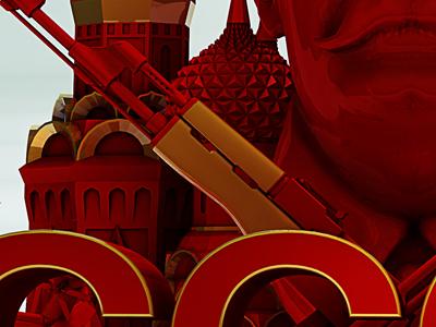 Socialist Supremacy  Yellow Dark Small render 3d typo type cinema4d typography effects