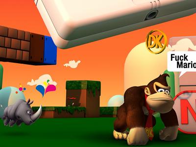 gameboy land render 3d cinema4d effects game gameboy play