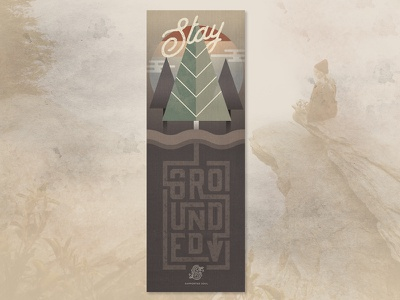 Supported Soul Stay Grounded Yoga Mat custom type forest pinetree outdoors branding apparel print namaste illustration yoga mat yoga
