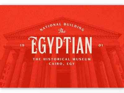 Egyptian Logo serif texture branding label packaging logotype logo typography