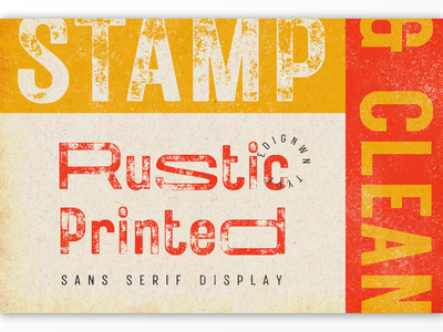 Rustic Printed Font packaging classic texture label badge vintage logotype retro typography logo