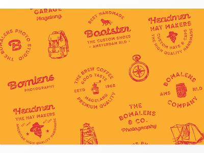 Retrokia Logo Collections branding packaging label badge logotype logo typography
