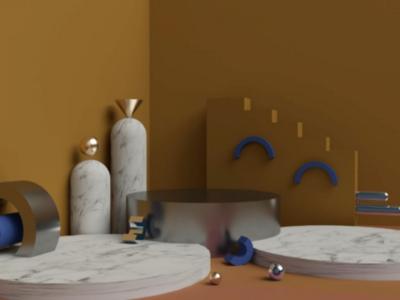 Yellow 3d 2019 blue yellow arnold render maxon cinema 4d sabri zeta animation 3d