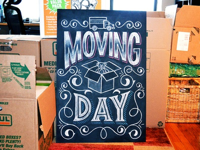 Moving Day Chalkboard