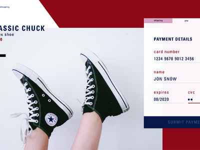 Daily UI 002 // Credit Card Check Out web converse shoes adobexd interface ui dailyuichallenge dailyui