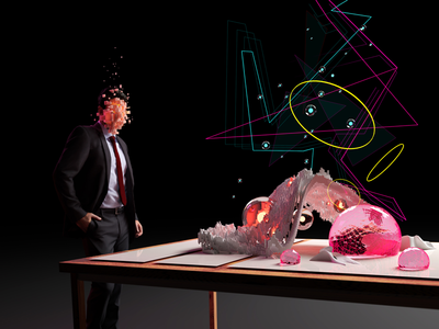 Business Trip abstract motion graphics vfx character illustration art model graphics concept art render blender 3d