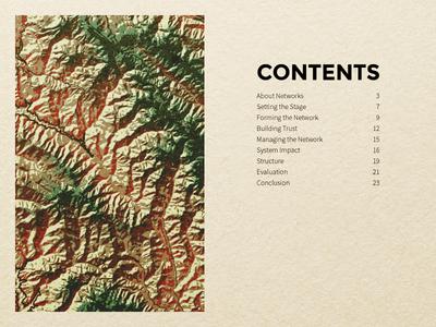 Santa Cruz Mountains Case Study ux ui forest topographic mountains print design magazine text font map graphic design print