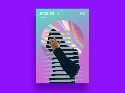 Art Collage #6 hood artist colors violet hologram bright collage creativeart abstract hoody people best creative artcollage art illustration design