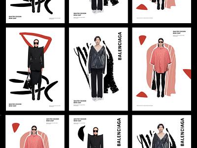 Balenciaga Concepts / Experements typogaphy graphic graphic design artcollage fashion colors collage vector illustration brand illustration web illustration art illustration vector design