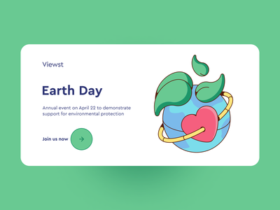 Earth Day illustration templatesdesign environmental protection environment green nature illustration nature bannerdesign heart like plant art ui perfect pixel perfect colors affinitydesigner vector illustration vector earthday earth illustration