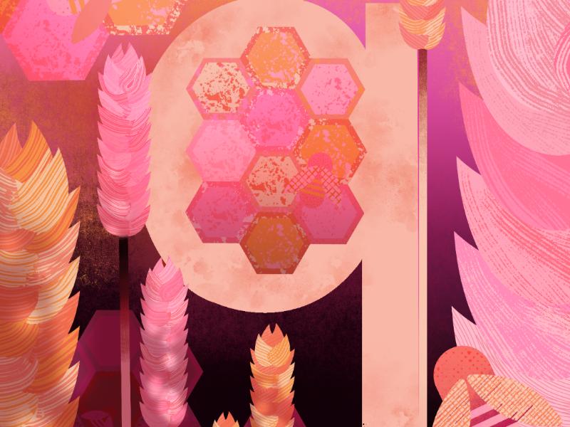 36 Days - Letter Q letterform botanicals illustrator 36days-q 36daysoftype illustration