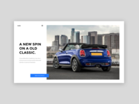 Automobile magazine website - Landing page
