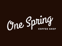 One Spring Coffee Shop - logotype design