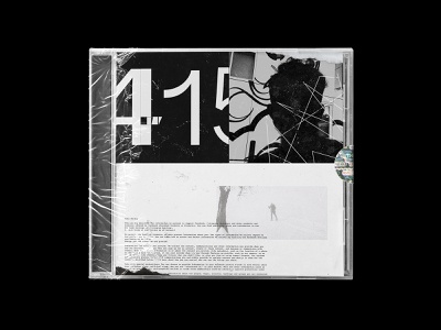 TAD - 006 thing a day swiss graphic design modern collage contemporary cd art direction analog single art album art cd cover cd packing print packaging cover typography type minimal clean