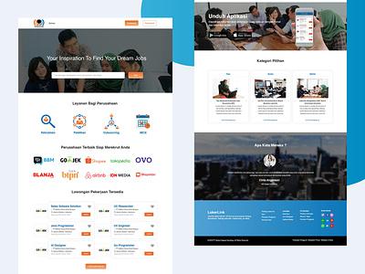 LokerLink Website Design app design ui design clean web design clean app ux ui userinterface register login job vacancy website website design job search
