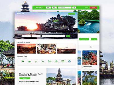 Travedia Travel Webiste 2020 clean app ui ux travelling travel agency web design travel web travel app travel website traveling travel