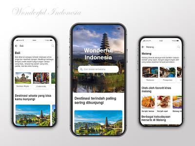 Indonesian Travel Apps branding web design ux ui tour apps indonesian 2020 clean app ux design uidesign uiux mobile app mobile travel apps travel apps design