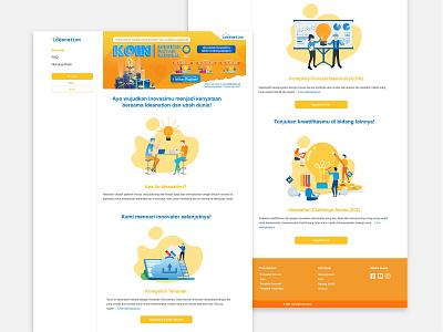 Ideanation Competition Platform faqs clean ui website concept 2020 clean competition page website design vector ui ux uiux ui design design contact us faq one page design one page site landing page homepage design web design