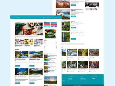 Blog Page landing page ui website design ux design clean app ui design ux web design design clean blog design blog post blogspot blog page blog