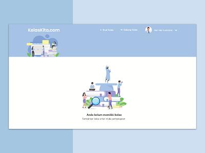 Kelaskita.com Education Website ux design branding startup clean app design ui design uiux web design website design class menegement design education startup e-learning education website