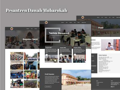 Pesantren Dawah Mubarokah Website web website design ux clean ux design clean app uiux ui design design schools school app education app education website web design
