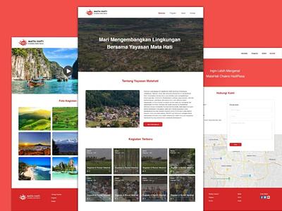 Yayasan Matahati Chakra Hadirasa Website web design company branding design clean app ux design ui design ui uiux ux website website design web design foundation website foundation