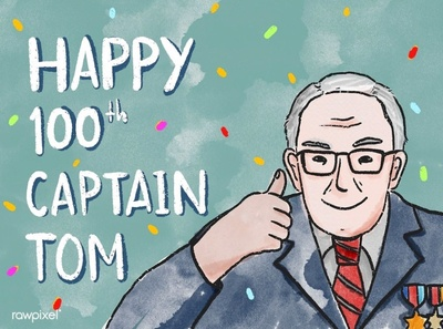 Free Happy Birthday Captain Tom Moore Card