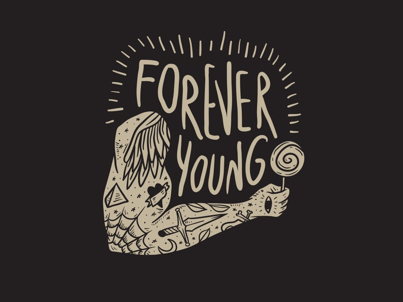 Free | Forever Young Vector