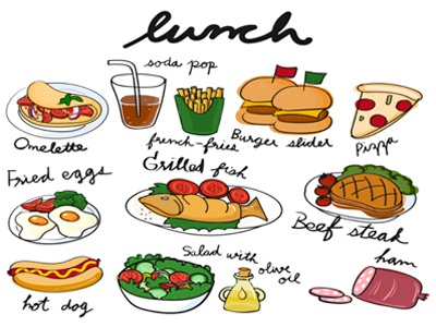 Free Vectors: Breakfast, Lunch, Dinner