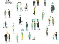 Free : green community avatars