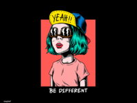 Creative illustration : Be different, yeah!
