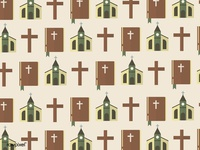 Seamless pattern of church concept