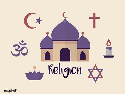 Religion Symbol Vector judaism hindu islam vector christianity religion graphic digital art illustration